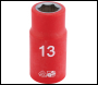 DRAPER 1/2 inch  Sq. Dr. Fully Insulated VDE Socket (13mm) - Pack Qty 1 - Code: 31788
