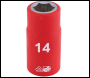 DRAPER 1/2 inch  Sq. Dr. Fully Insulated VDE Socket (14mm) - Code: 31789