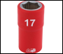 DRAPER 1/2 inch  Sq. Dr. Fully Insulated VDE Socket (17mm) - Pack Qty 1 - Code: 31864