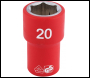DRAPER 1/2 inch  Sq. Dr. Fully Insulated VDE Socket (20mm) - Code: 31882