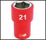 DRAPER 1/2 inch  Sq. Dr. Fully Insulated VDE Socket (21mm) - Code: 31941