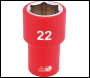 DRAPER 1/2 inch  Sq. Dr. Fully Insulated VDE Socket (22mm) - Code: 31951