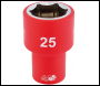 DRAPER 1/2 inch  Sq. Dr. Fully Insulated VDE Socket (25mm) - Pack Qty 1 - Code: 31961