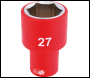 DRAPER 1/2 inch  Sq. Dr. Fully Insulated VDE Socket (27mm) - Code: 31964