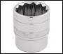 DRAPER 1/2 inch  Square Drive Hi-Torq® 12 Point Socket (28mm) - Pack Qty 1 - Code: 33518