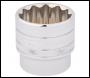 DRAPER 1/2 inch  Square Drive Hi-Torq® 12 Point Socket (36mm) - Pack Qty 1 - Code: 33594
