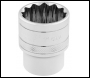 DRAPER 1/2 inch  Square Drive Hi-Torq® 12 Point Socket (1 inch ) - Code: 33725