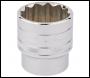 DRAPER 1/2 inch  Square Drive Hi-Torq® 12 Point Socket (1.1/4 inch ) - Pack Qty 1 - Code: 33729
