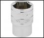 DRAPER 1/4 inch  Square Drive Hi-Torq® 6 Point Socket (1/2 inch ) - Pack Qty 1 - Code: 49010