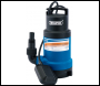 DRAPER 200L/Min Submersible Dirty Water Pump with Float Switch (750W) - Pack Qty 1 - Code: 61667
