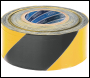 DRAPER 500M x 75mm Black and Yellow Barrier Tape Roll - Pack Qty 1 - Code: 69009