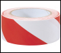 DRAPER 33M x 50mm Red and White Hazard Tape Roll - Pack Qty 1 - Code: 69010