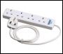 DRAPER 4 Way 1 Metre Extension Lead - Pack Qty 1 - Code: 72716