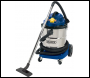 DRAPER 50L 110V Wet and Dry Vacuum Cleaner with Stainless Steel Tank and 110V Power Tool Socket (1500W) - Pack Qty 1 - Code: 75443