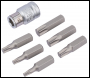 DRAPER 3/8 inch  Square Drive Draper TX-STAR® Bit and Bit Holder Set (7 Piece) - Pack Qty 1 - Code: 83561