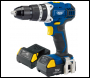 DRAPER 18V Cordless Combi Hammer Drill with Two Li-Ion Batteries - Pack Qty 1 - Code: 83685