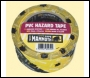 Everbuild Pvc Hazard Tape - Red/white - 50mm X 33mtr - Box Of 24