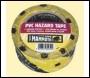 Everbuild Pvc Hazard Tape - Black/yellow - 50mm X 33mtr - Box Of 24