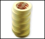 Everbuild Value Gp Masking Tape 50mtr - Off White - 25mm X 50mtr - Box Of 36