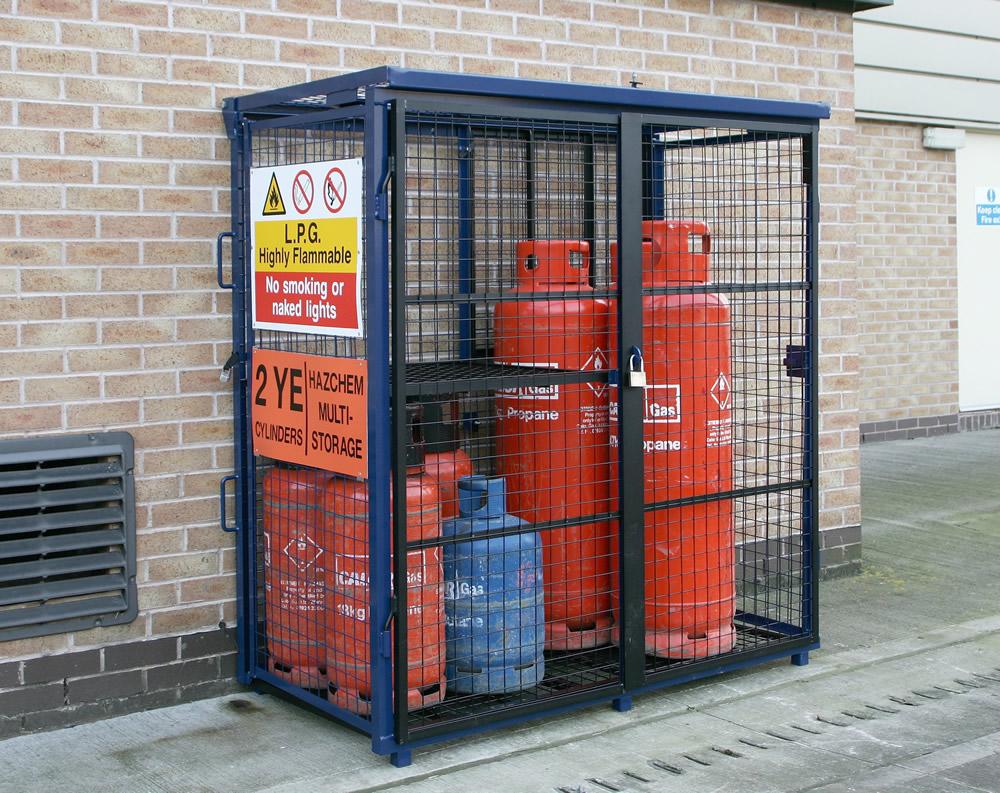 Folding Gas Bottle Storage Cage 1800mm X 1800mm X 900mm