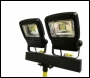 Nightsearcher NSECOSTAR50-110V-TWIN Head LED Floodlight with Tripod