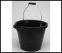 Rubber Type Bucket - BU4R03 - 3 Gallon - Black