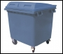 1100L 4 Wheeled Waste Bin With Lid - DB0W110 - 1100ltr - Anthracite