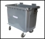 4 Wheeled Waste Bin (Without Lid)  - DB0W660-GRY - 660ltr - Anthracite Grey