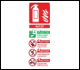 Water Fire Extinguisher Sign - OSF1003 - 75 x 200mm