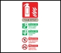 Foam Fire Extinguisher Sign - OSF1004 - 75 x 200mm