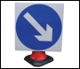 Keep Left/Right (Rotational) Cone Sign - RE6CKR - 750mm