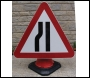 Road Narrows Left Cone Sign - RE6CRNL - 750mm