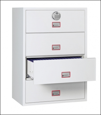 Phoenix World Cl Lateral Fire File Fs2414e 4 Drawer Filing Cabinet With Electronic Lock Product