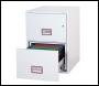 Phoenix World Class Vertical Fire File FS2262K 2 Drawer Filing Cabinet with Key Lock