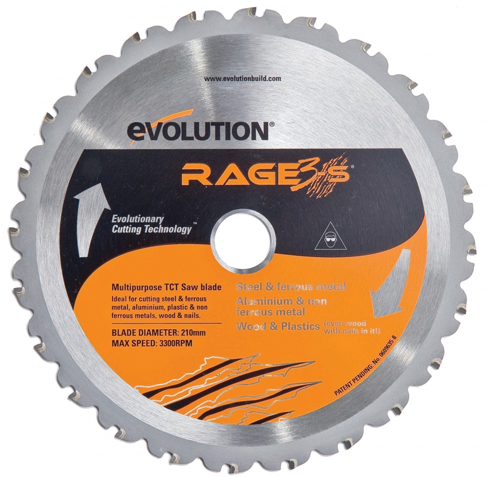 evolution rage3 s 210mm replacement multipurpose blade. Black Bedroom Furniture Sets. Home Design Ideas