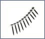 3.5 x 38mm Premium Collated Drywall Screws Coarse Thread Black (per 1000)