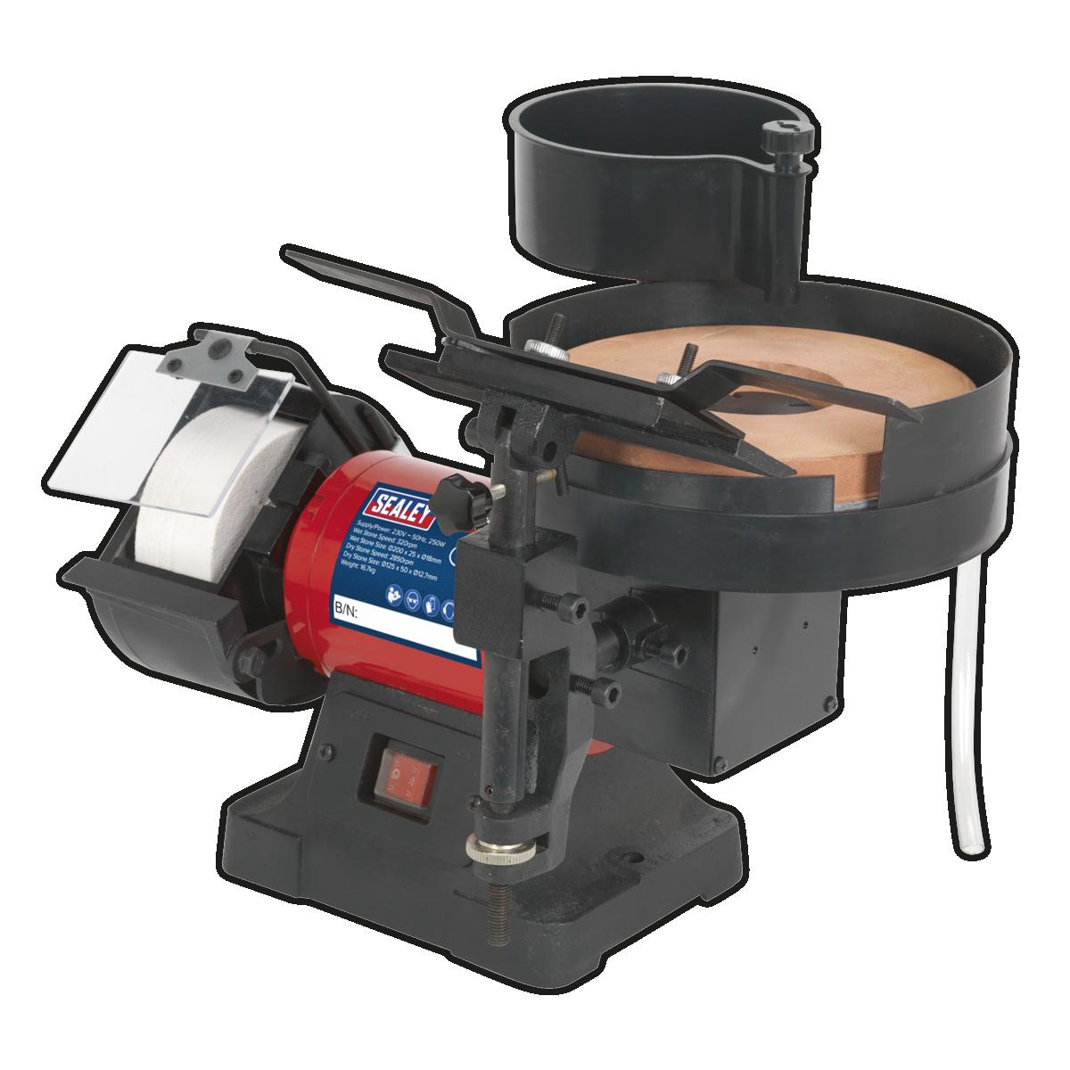 Sealey Sms2107 Bench Grinder Sharpener Wet Amp Dry 216 200