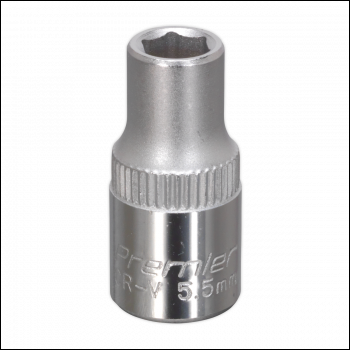 """Sockets Individual S14055D Sealey WallDrive® Socket 5.5mm Deep 1//4/""""Sq Drive"""