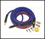 Sealey AHK02 Air Hose Kit Heavy-Duty 15m x Ø10mm with Connectors