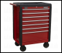 Sealey AP3407 Rollcab 7 Drawer with Ball Bearing Slides - Red
