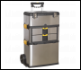 Sealey AP855 Mobile Stainless Steel/Composite Toolbox - 3 Compartment