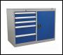 Sealey API1103B Industrial Cabinet/Workstation 5 Drawer & 1 Shelf Locker