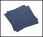 Sealey FT1B Vinyl Floor Tile with Peel & Stick Backing - Blue Treadplate Pack of 16