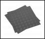 Sealey FT1S Vinyl Floor Tile with Peel & Stick Backing - Silver Treadplate Pack of 16