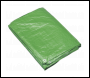 Sealey TARP810G Tarpaulin 2.44 x 3.05m Green