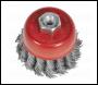 Sealey TKCB652 Twist Knot Wire Cup Brush Ø65mm M10 x 1.25mm