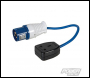 PowerMaster 16A-13A Fly Lead Converter - 16A Plug to 13A Socket - Code 341082
