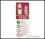 Fixman Water EN3 Extinguisher Sign - 202 x 82mm Self-Adhesive - Box of 5 - Code 630298