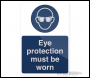 Fixman Eye Protection Must Be Worn Sign - 200 x 300mm Rigid - Box of 5 - Code 893068