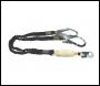 Zero Double Elasticated Lanyard With Snaphook & Scaffold Hooks - 2m - Code ABM-2T5E
